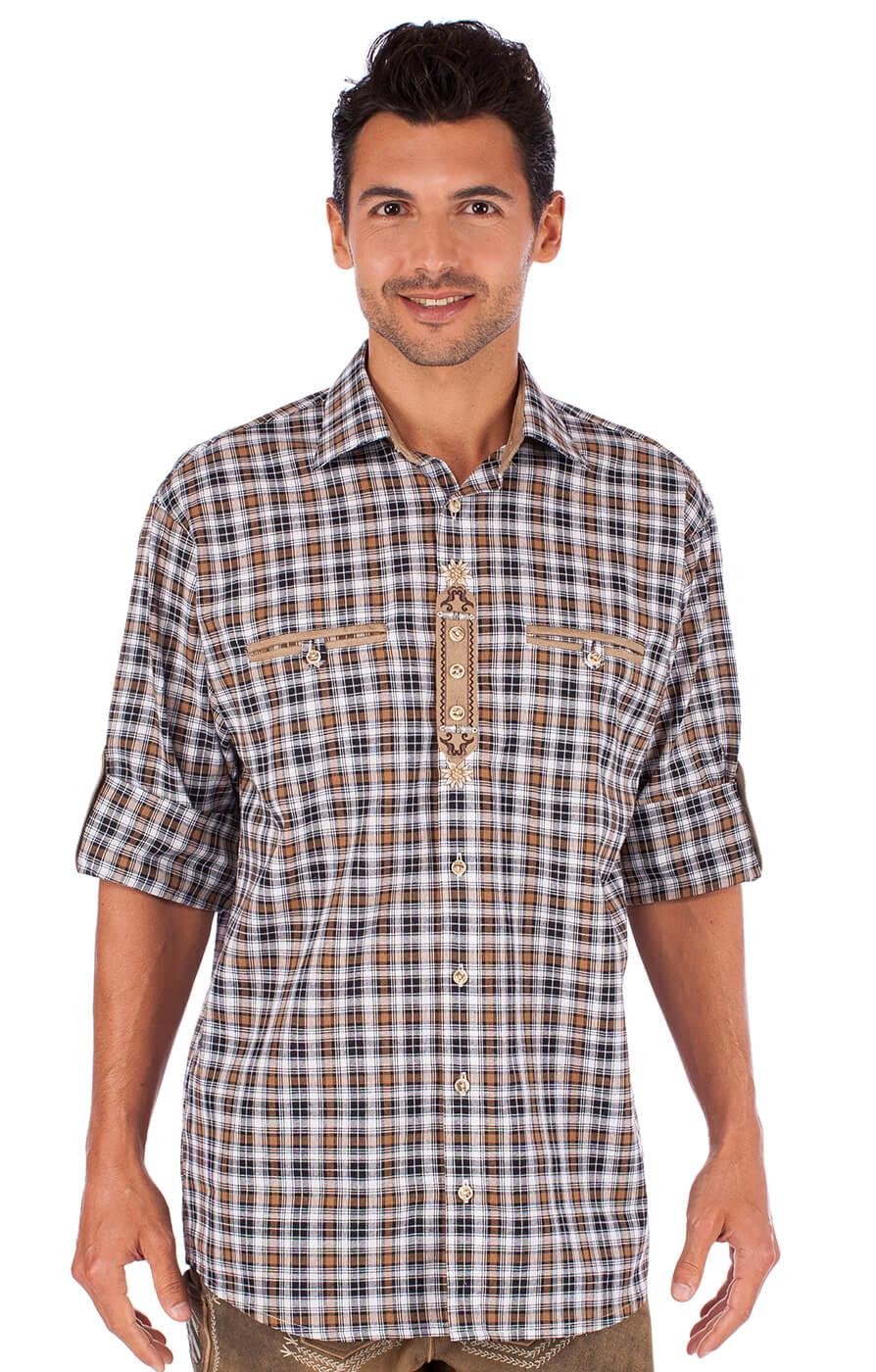 German traditional shirt 920004-3310-69 brown von OS-Trachten