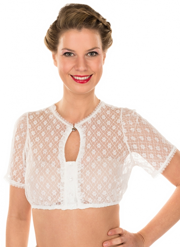 Traditional dirndl blouse 35172-2ecru