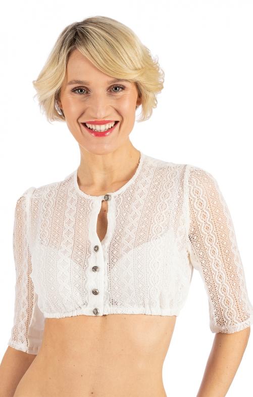 Traditional dirndl blouse BELA-ANITA cream