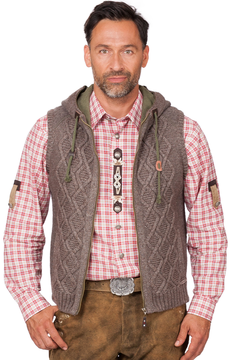 German knitted waistcoat Fulvio beige brown von Spieth Wensky
