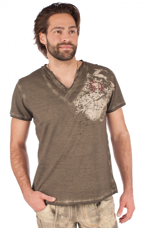 Traditional German T-Shirt 93210-7 brown