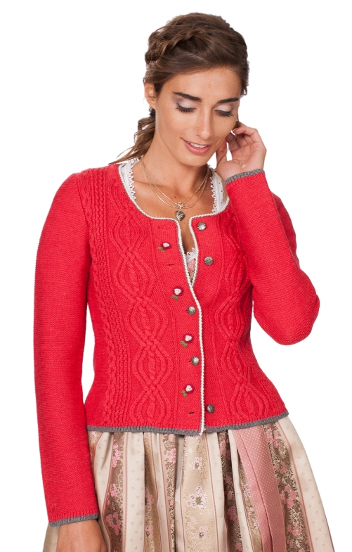 Traditional Cardigan Fancy red