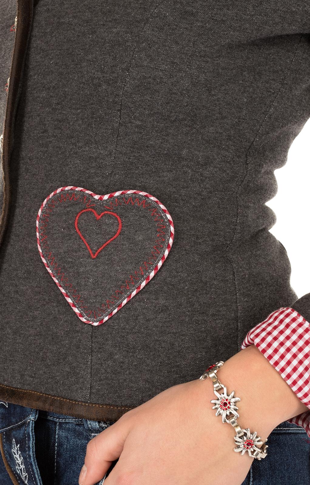 weitere Bilder von Traditional Jacket gray red