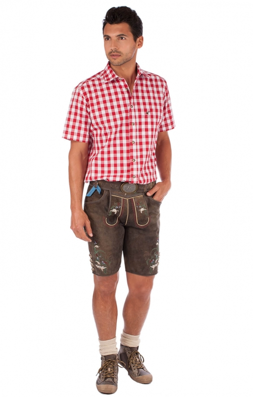 German leather trousers HOHENEMS dark darkbrown