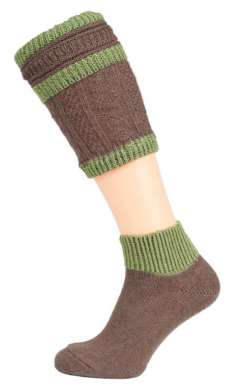Loferl set with socks CS508 brown green