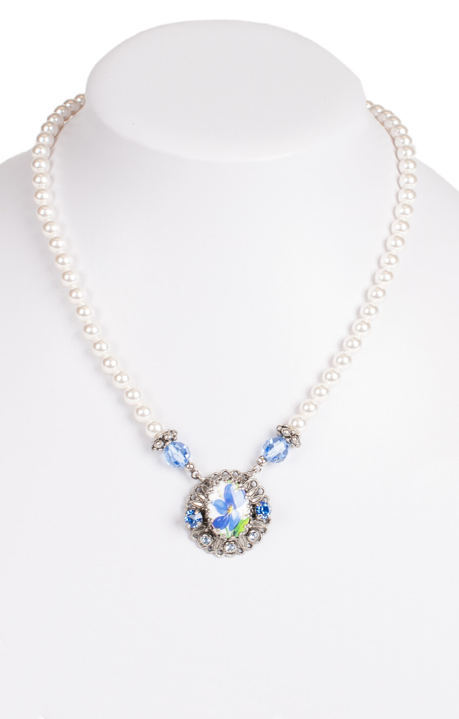 Traditional necklace 1799, blue von Schuhmacher