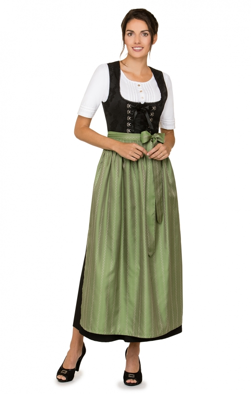 Dirndl long 1pcs. Anaida black green 96 cm