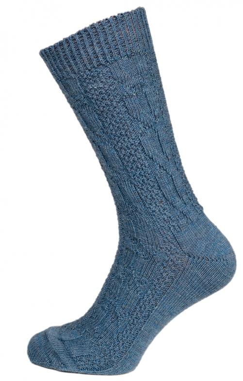 Traditional knee socks CS52 blue