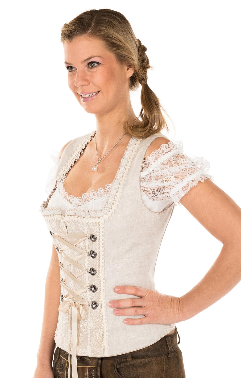 weitere Bilder von Traditional dirndl corsage 34574-15brown