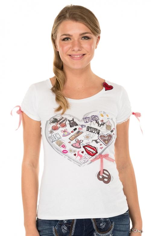 Trachten Shirt 35241-1white