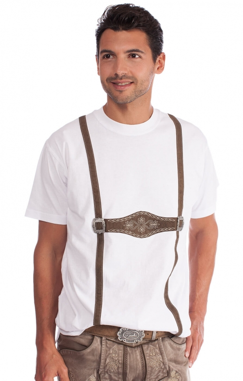 Traditional German T-Shirt Montblanc white