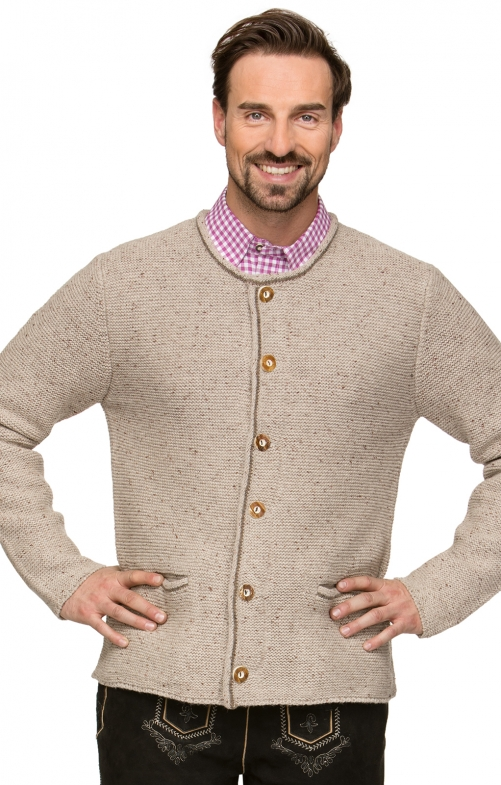 Traditional german cardigan MAGNUS4 natur