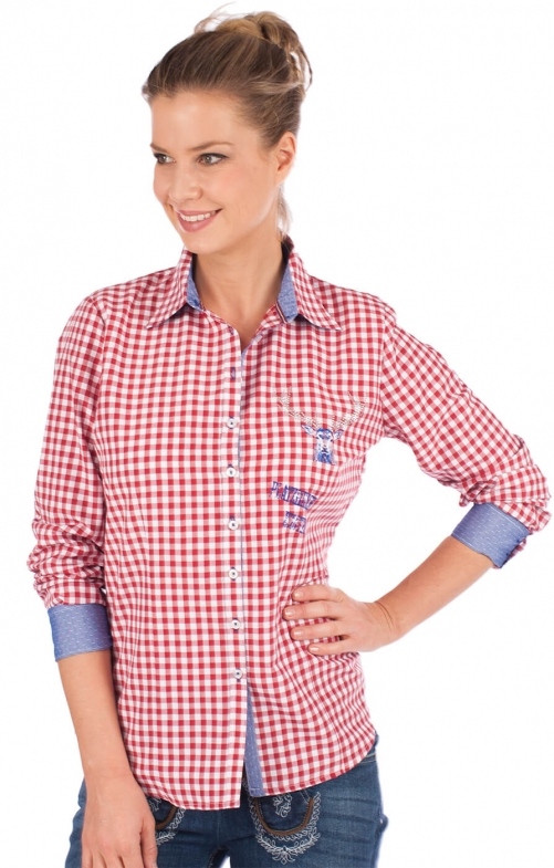 Traditional blouse CORINNA red