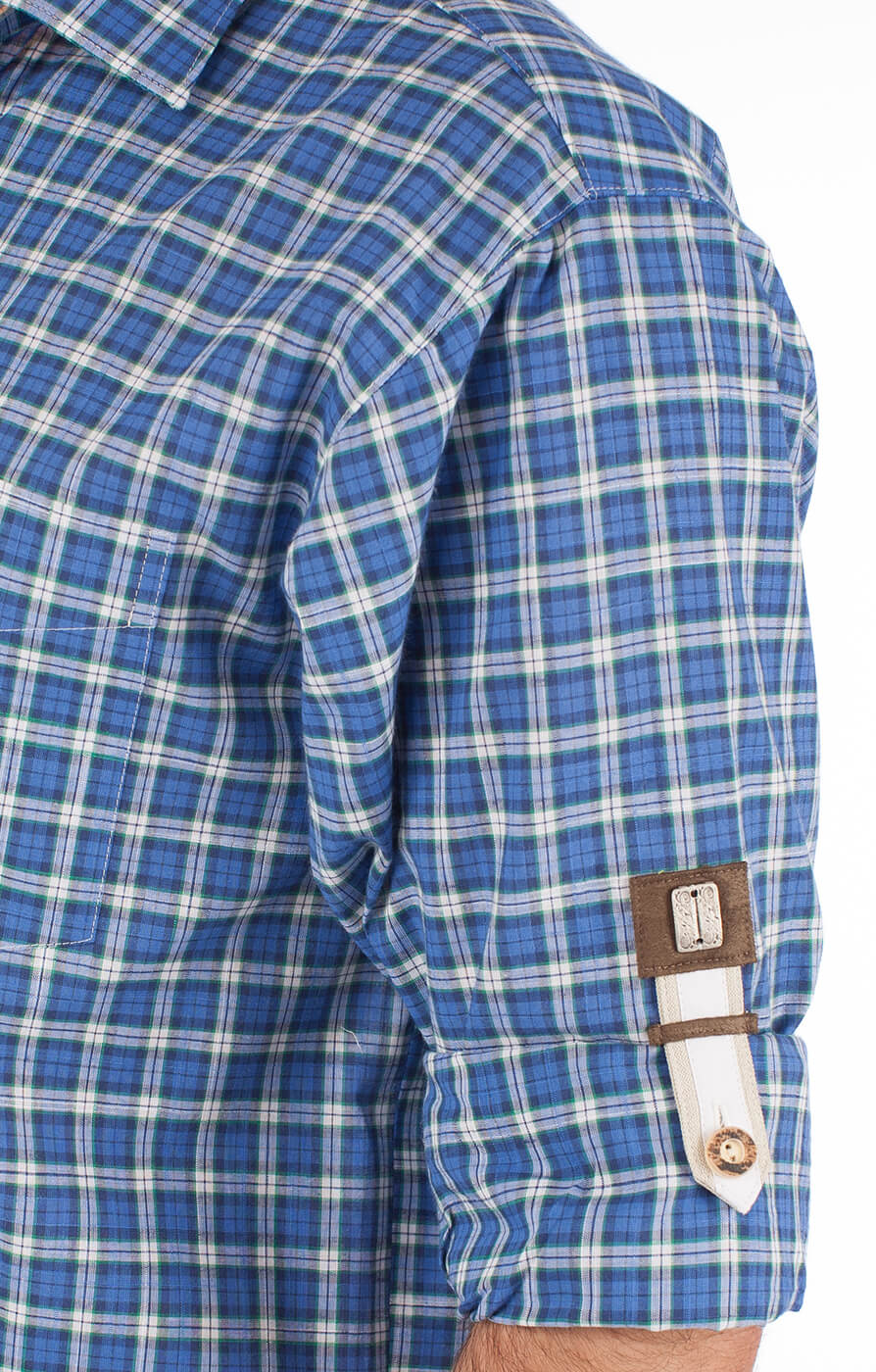 weitere Bilder von German traditional shirt Thommy blue