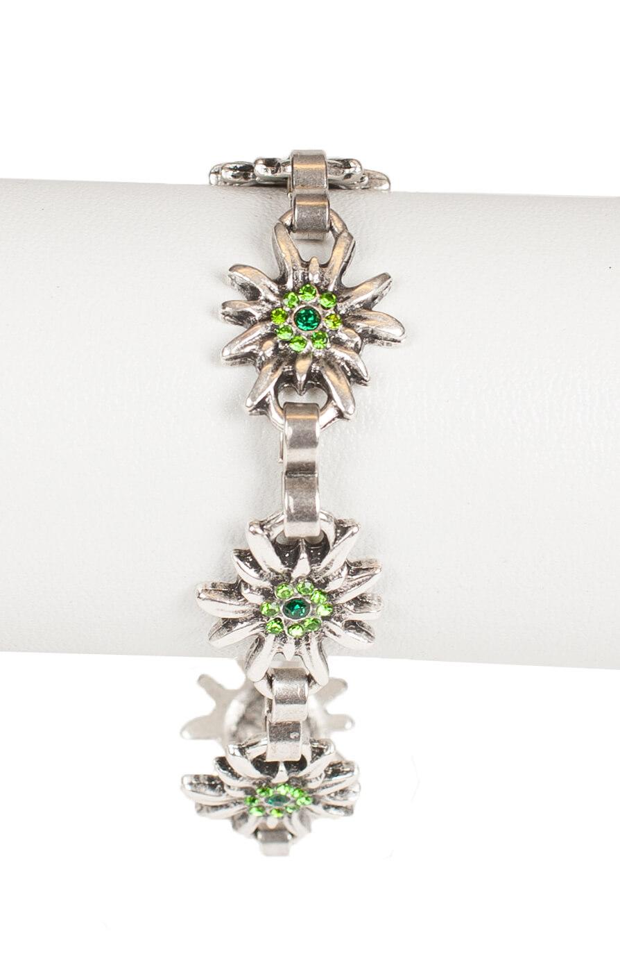 weitere Bilder von Bracelet AB9197-5 with edelweiss, green