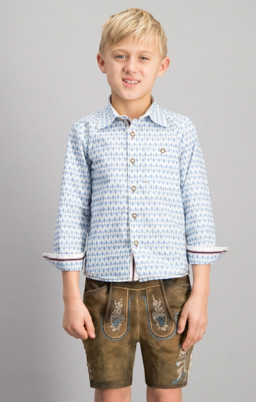 Children traditional shirt BENNY blue