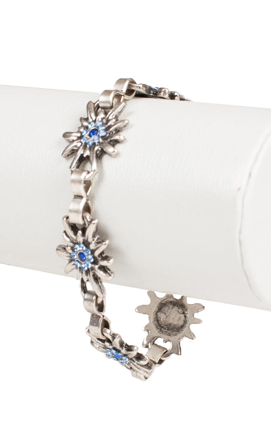 Bracelet AB9197-5 with edelweiss, blue von Schuhmacher