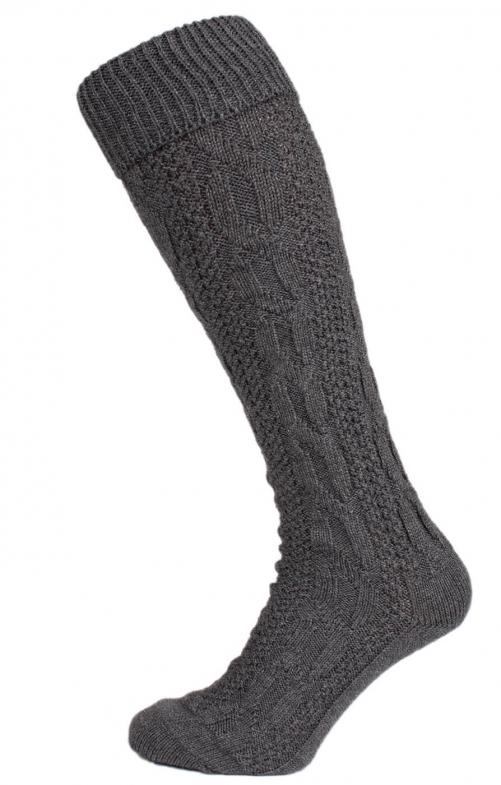 Traditional knee socks CS556 gray