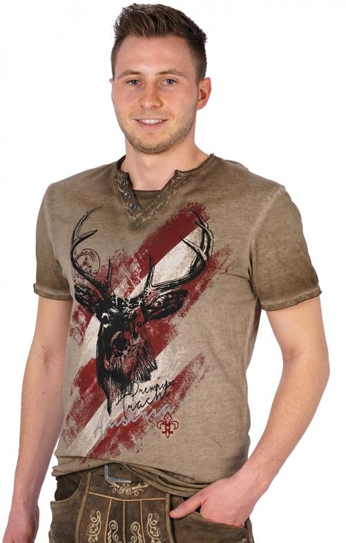 Traditional German T-Shirt FERDI Austria brown