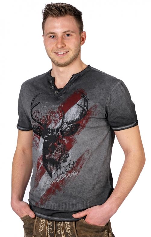 Traditional German T-Shirt FERDI Austria gray