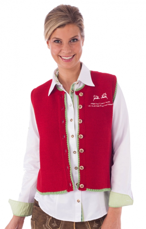 Traditional waistcoat Sontje red