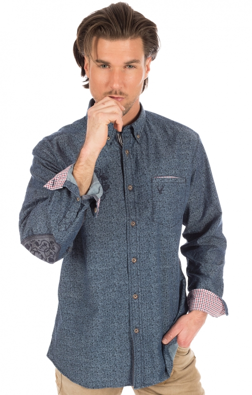 German traditional shirt blue
