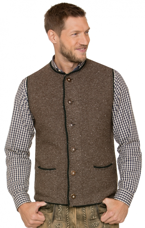 German knitted waistcoat ANDY nut