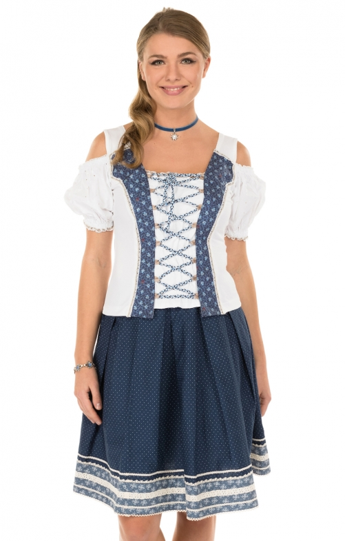Traditional skirt blu