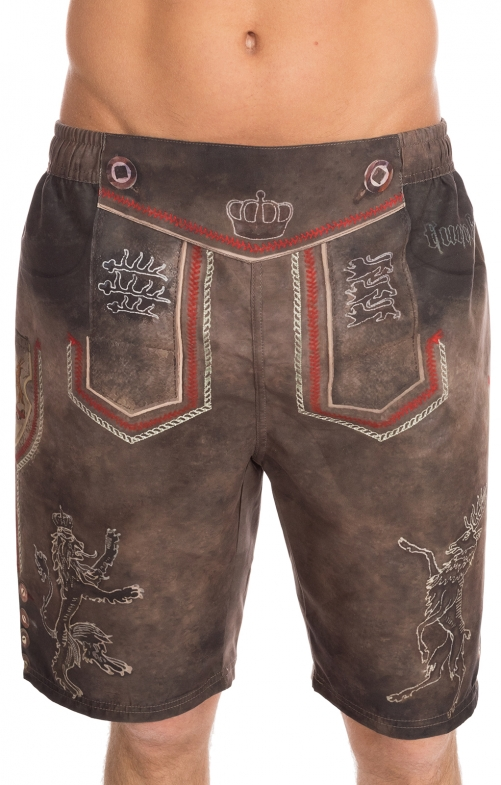 Bathing shorts men 94686-7 brown