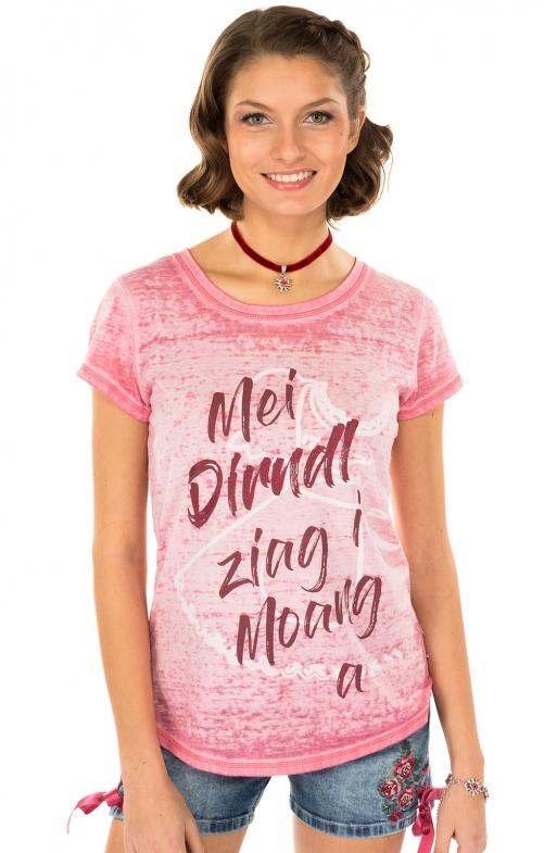 Trachten Shirt K90-DIRNDL pink