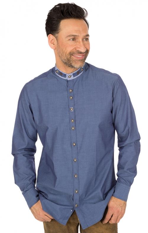 German traditional shirt Pfoad blue