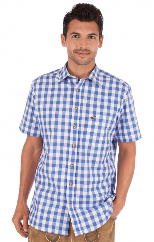 German traditional shirt Sonnblick blue
