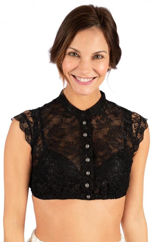 Traditional dirndl blouse DELROSE-EVA black