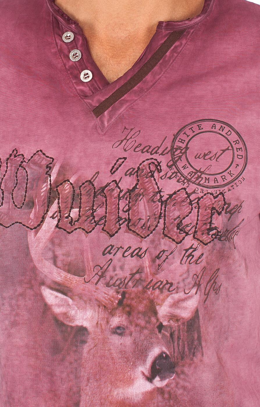 weitere Bilder von Traditional German T-Shirt Uberto burgund
