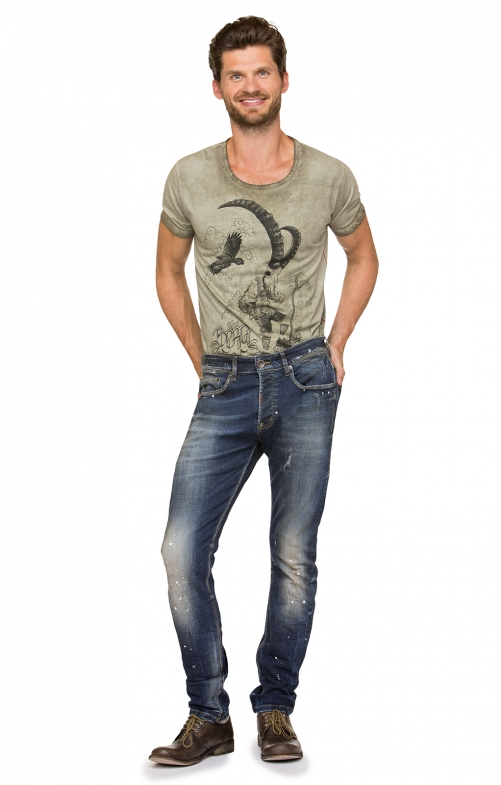 Traditional jeans No1-10dirtywash blue