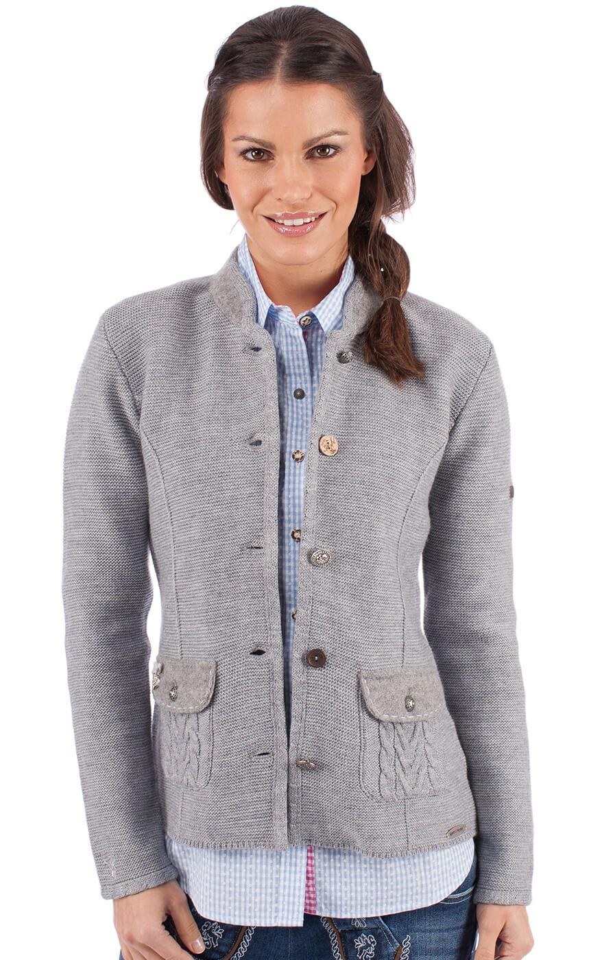 Traditional Cardigan ETTAL gray von Spieth & Wensky