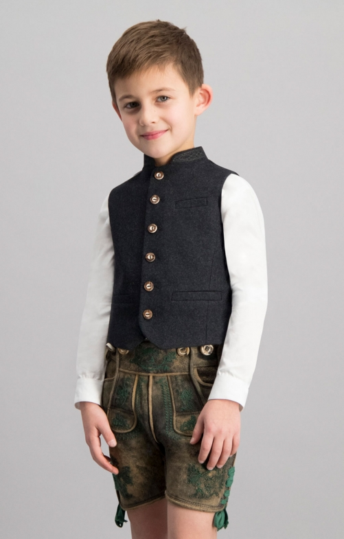 Children's vest ALOIS anthracite