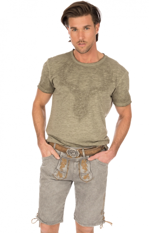 Traditional jeans shorts HE1719 light gray