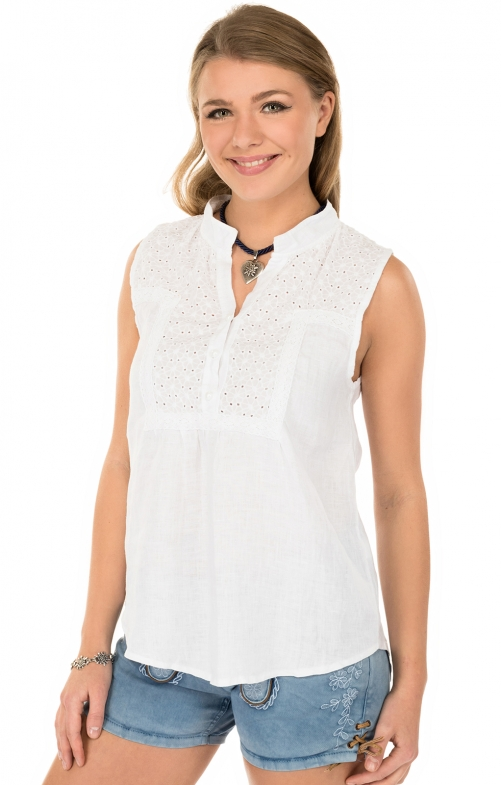 Traditional blouse MELINA-Twhite