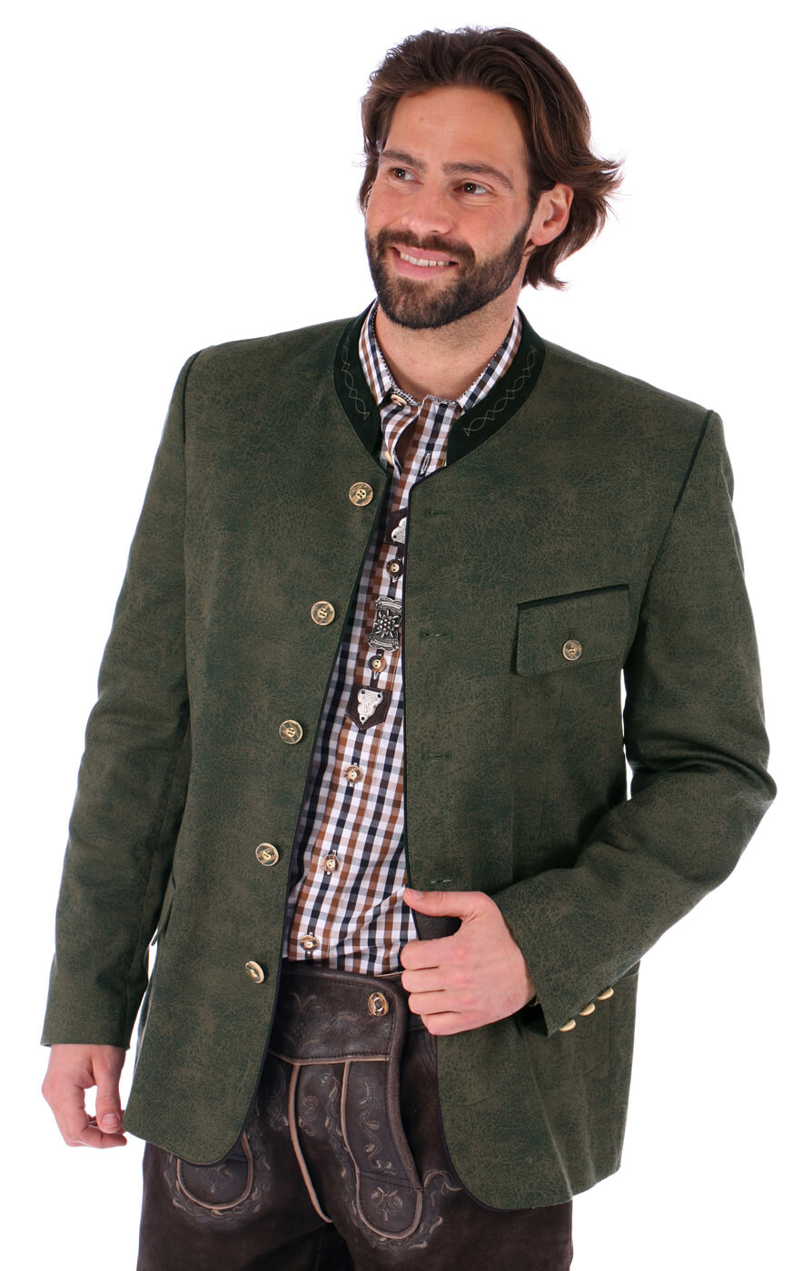German traditional jacket Joscha green von OS-Trachten