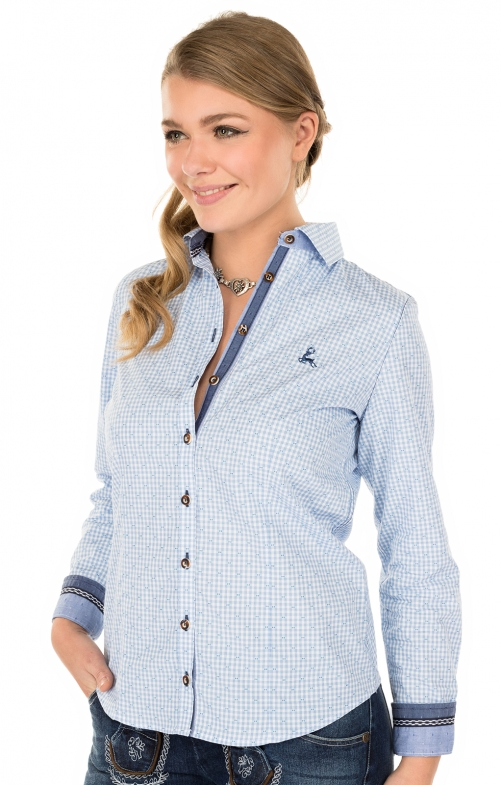 Traditional blouse TERRY lightblue
