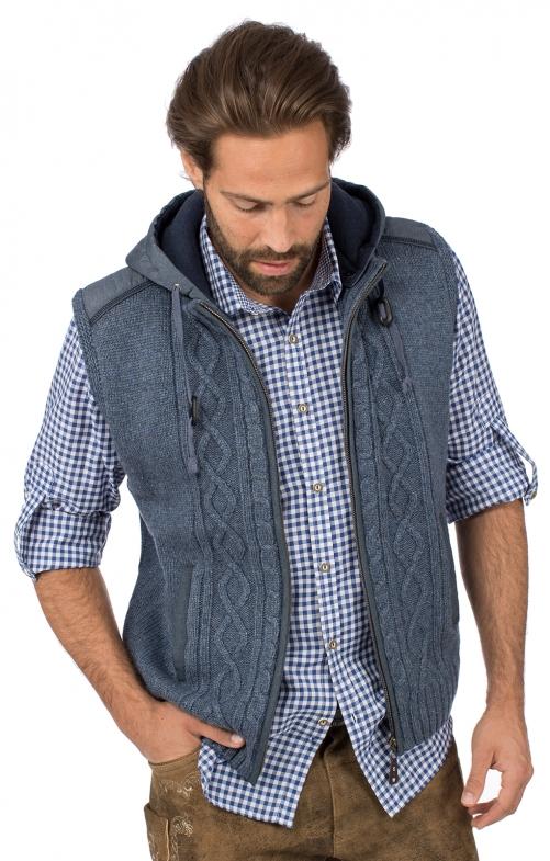 Traditional vest HAINBURG Hoodie jeans blue