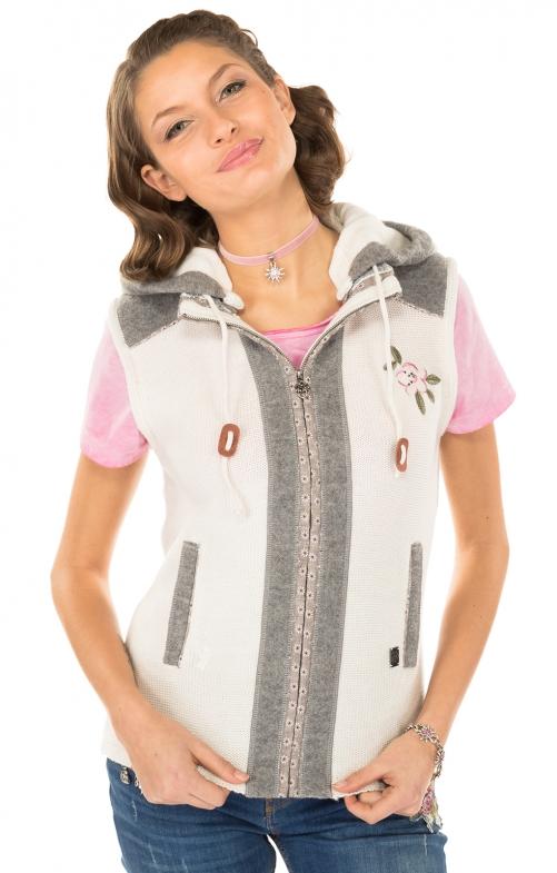 Knitted vest white