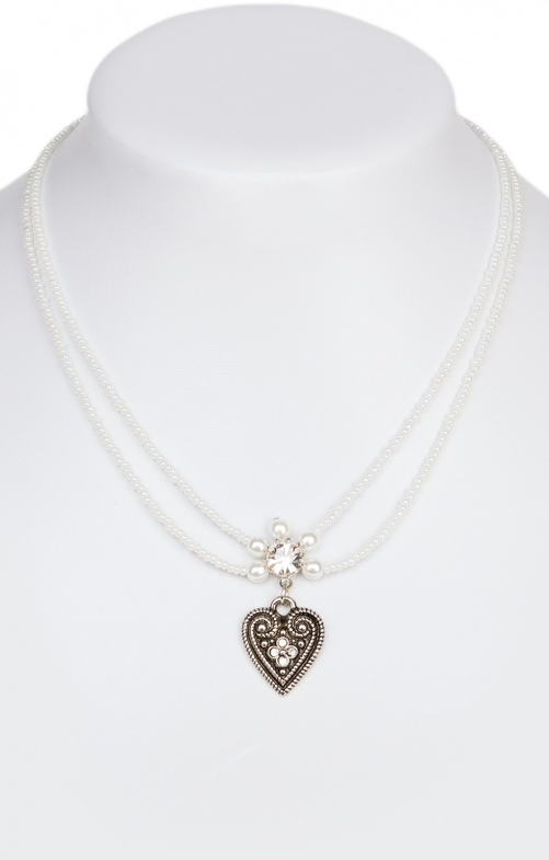 Traditional necklace pearl 13007-2044 white