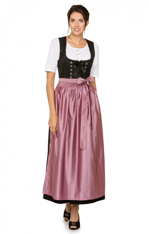 Dirndl long 1pcs. Anaida black berry 96 cm