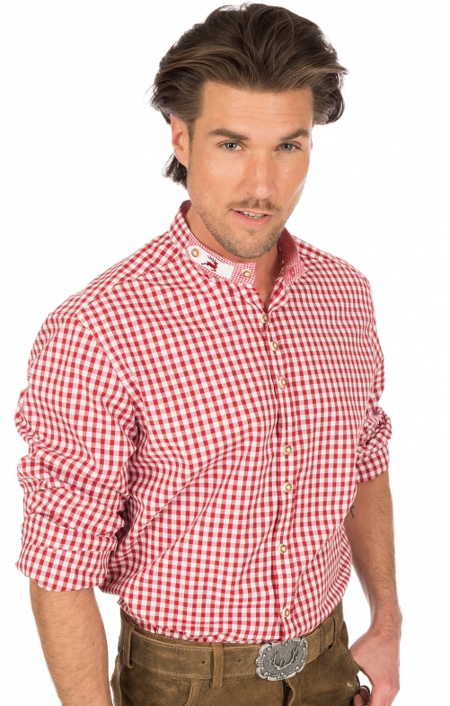 German traditional shirt Pfoad red