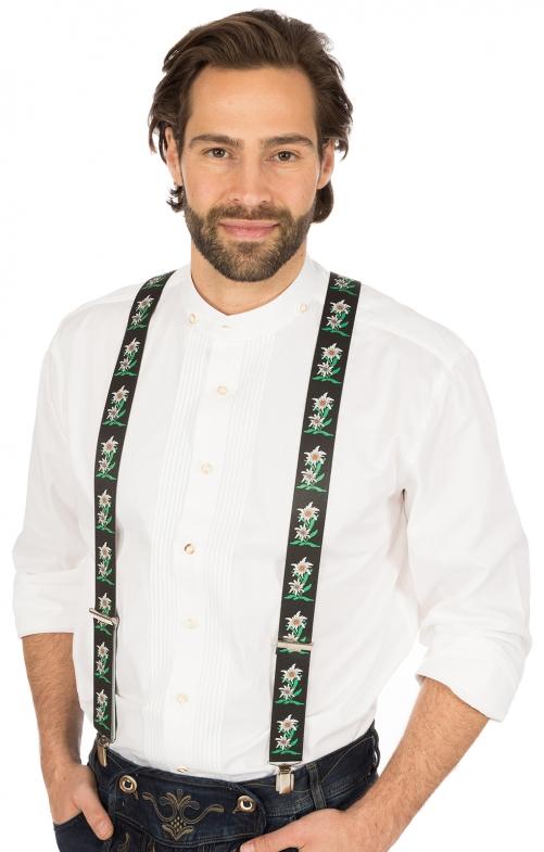 Traditional suspenders HOE-60 black