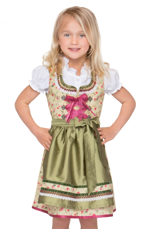Traditional Children dirndl POLA green