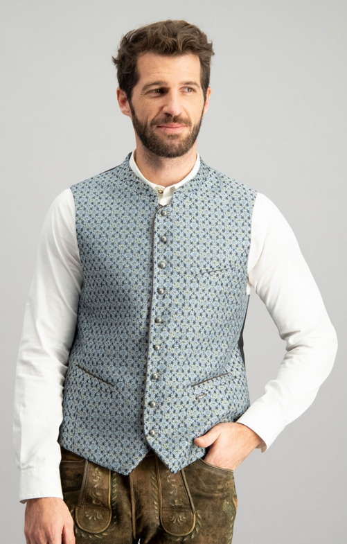 Tradition vest BERTO smoke blue