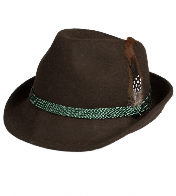 Costume hat HT750 with feather brown